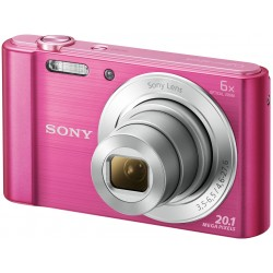 "CAMARA pink DSC-W810/P 20.1MP/6X/2.7""/HD MOVIE 720p+MEM 4 GB"