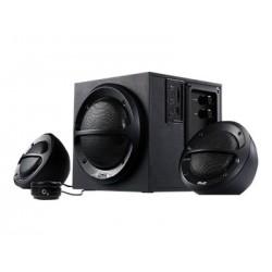 KLIPX PARLANTES ESTEREO 2.1 36W USB/SD NEGRO KES-350