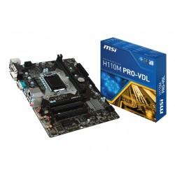 MSI H110M PRO-VDL microATX VGA/DVI 2PCI 2XDDR4